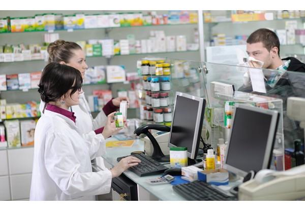 Оборудование для кассовой зоны аптеки в Гиперцентре