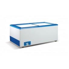 Морозильный ларь с прямым стеклом Crystal ЭКТОР 36 SGL (4 корзины)