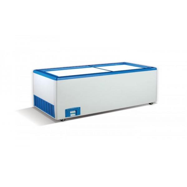 Морозильный ларь с прямым стеклом Crystal ЭКТОР 46 SGL (5 корзины)