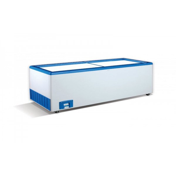 Морозильный ларь с прямым стеклом Crystal ЭКТОР 56 SGL (6 корзины)