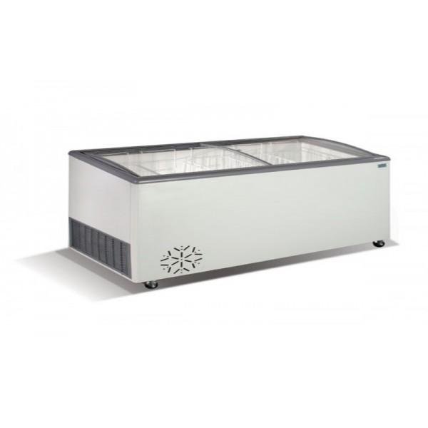 Морозильный ларь гнутое стекло Crystal VENUS SGL 46 (5 корзин)
