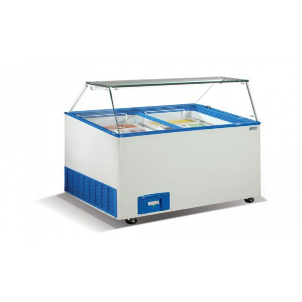 Морозильные лари для мягкого мороженного Crystal VENUS VITRINE 26 (гнутое стекло)