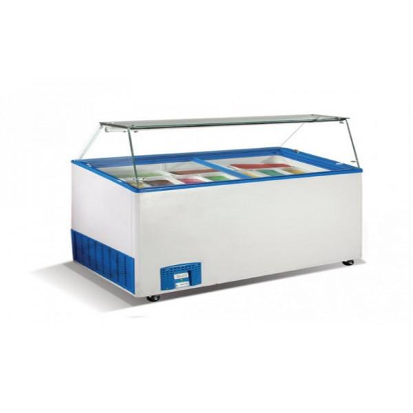 Морозильные лари для мягкого мороженного Crystal VENUS VITRINE 36 (гнутое стекло)