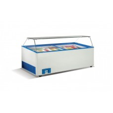Морозильные лари для мягкого мороженного Crystal VENUS VITRINE 46 (гнутое стекло)