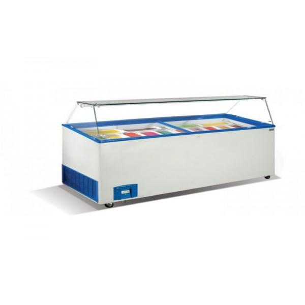 Морозильные лари для мягкого мороженного Crystal VENUS VITRINE 56 (гнутое стекло)