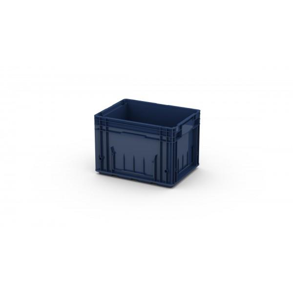 Пластиковый ящик R-KLT 4329 с усиленным дном (396х297х280 мм) темно синий