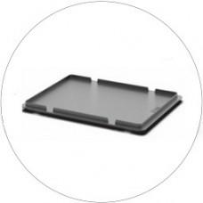 Крышка для пластиковых ящиков системы KLT 50.512.1.91 (400x300 мм) серая
