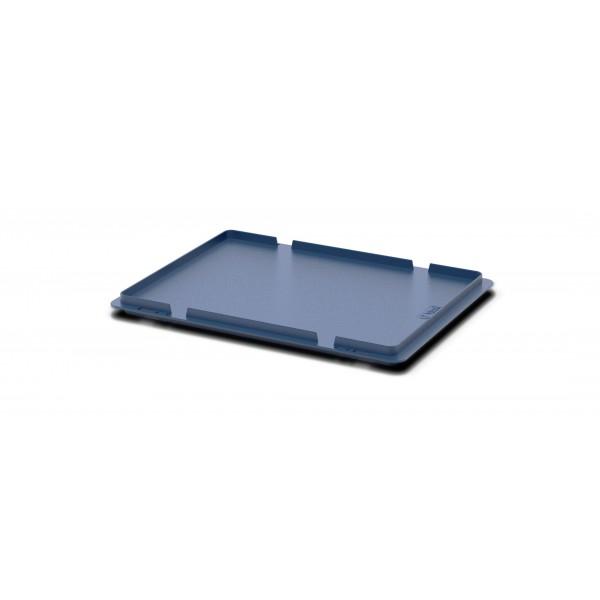 Крышка для пластиковых ящиков системы KLT 50.512.1.61 (400x300 мм) темно синяя