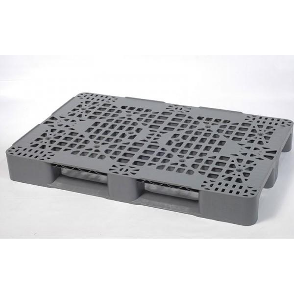Универсальный перфорированный пластиковый поддон на двух полозьях 1200х800х150 мм (02.105.91.Q) серый