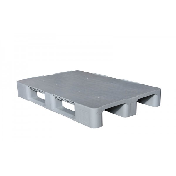 Универсальный сплошной пластиковый поддон на трех лыжах 1200х800х150 мм (02.105F.91.С3.Q) серый