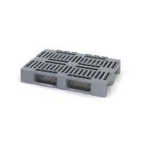 Усиленный пластиковый поддон с открытыми полозьями 1200х800х160 мм (02.108.91.PE) серый