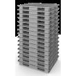 Поддон полимерный 1300х1100х150 мм (02.113.91) серый