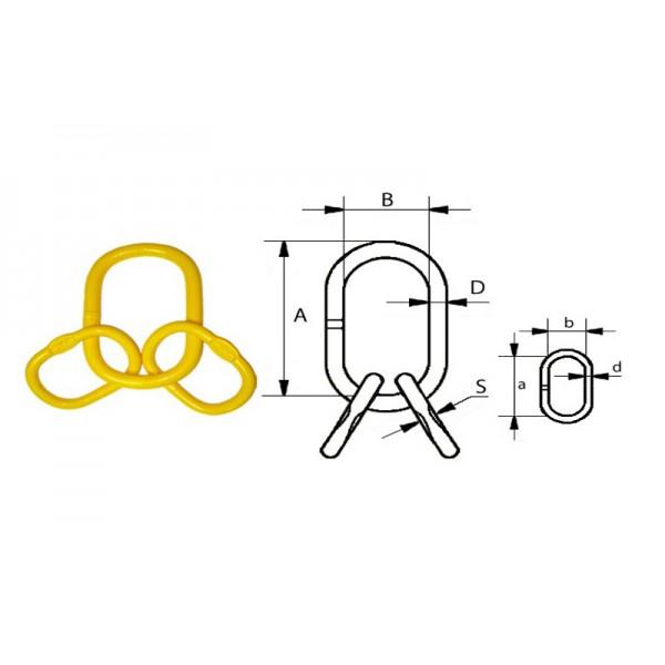 Звено соединительное с дополнительными овалами типа G80 А347, 3/4 (4.00т)