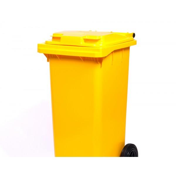 Передвижной мусорный контейнер 120 л. с крышкой (480х555х937 мм) цветные