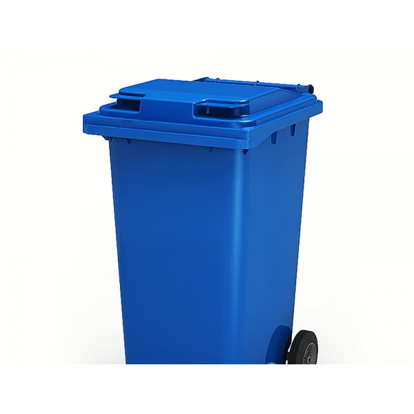 Передвижной мусорный контейнер 120 л. с крышкой и педальным приводом (480х555х937 мм) цветные