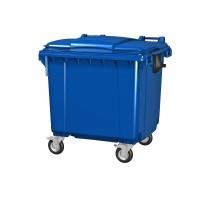 Передвижной мусорный контейнер 660 л. с крышкой 1370x780x1218 мм (25.C19)
