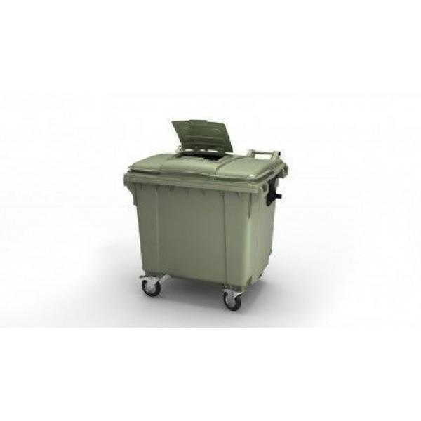 """Передвижной мусорный контейнер 660 л. с опцией """"крышка в крышке"""" 1370x780x1218 мм (25.C19.W)"""