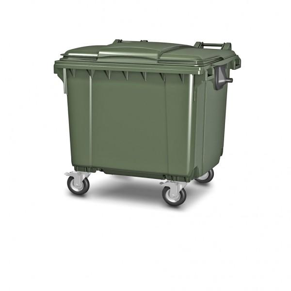 Передвижной мусорный контейнер 1100 л. с крышкой 1377x1077x1369 мм (25.C19)