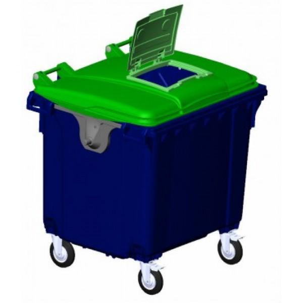 """Комплект крышки передвижного мусорного контейнера """"крышка в крышке"""" (21.053.ХХ.РЕ.W.С24)"""