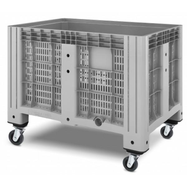 Перфорированный контейнер iBox на колесах 1200х800х800 мм (11.602.91.РЕ.С13)