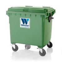 Мусорный контейнер марки W-weber на 1100 л (1090х1118x1295 мм)