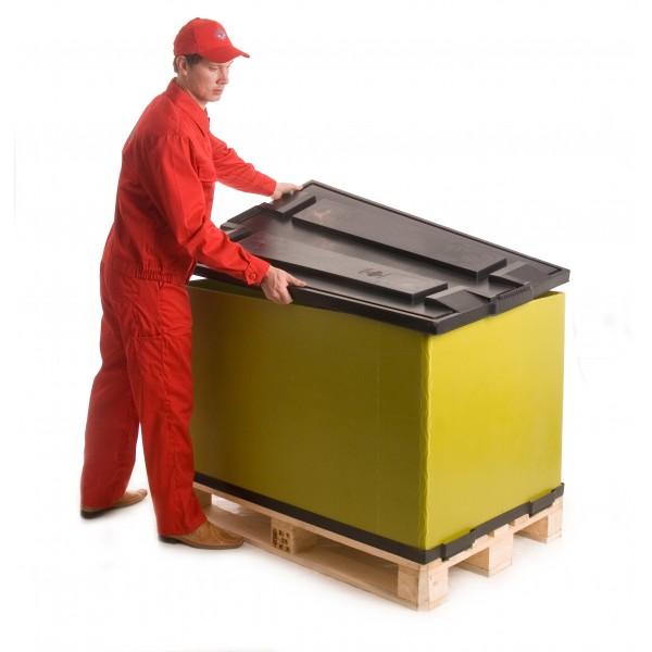 Пластиковая крышка для контейнера PolyBox 1200х800 мм (05.011) серый