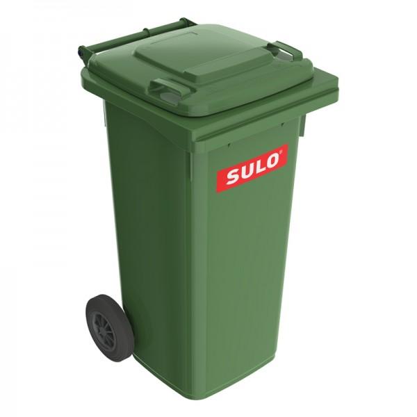 Мусорный контейнер марки SULO (550x500х933 мм) на 120 л, зеленый