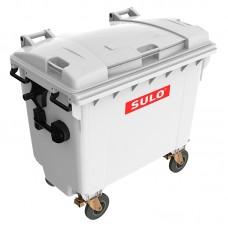 Мусорный контейнер марки SULO (775x1370х1230 мм) на 660 л, серый