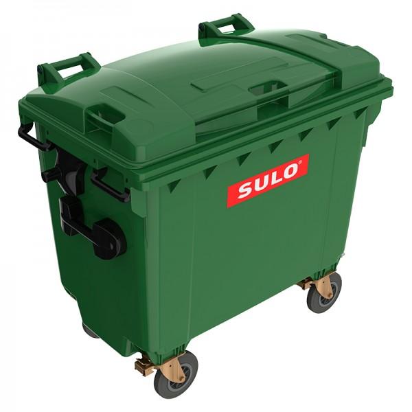 Мусорный контейнер марки SULO (775x1370х1230 мм) на 660 л, зеленый