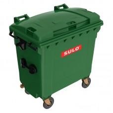 Мусорный контейнер марки SULO (775x1370х1365 мм) на 770 л, зеленый