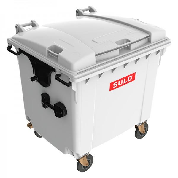 Мусорный контейнер марки SULO (1075x1370х1330 мм) на 1100 л, серый