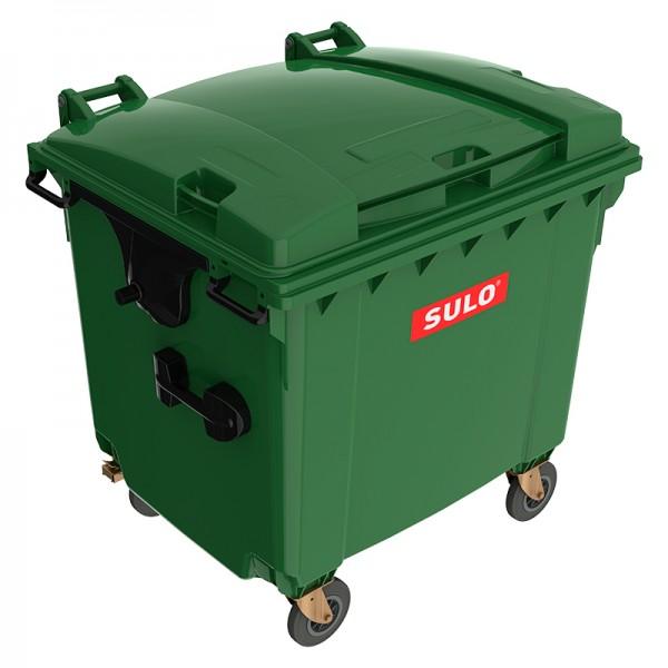 Мусорный контейнер марки SULO (1075x1370х1330 мм) на 1100 л, зеленый
