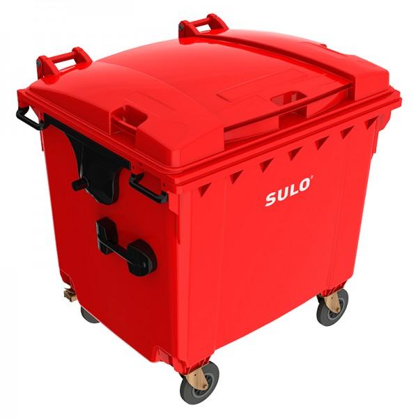 Мусорный контейнер марки SULO (1075x1370х1330 мм) на 1100 л, цветные