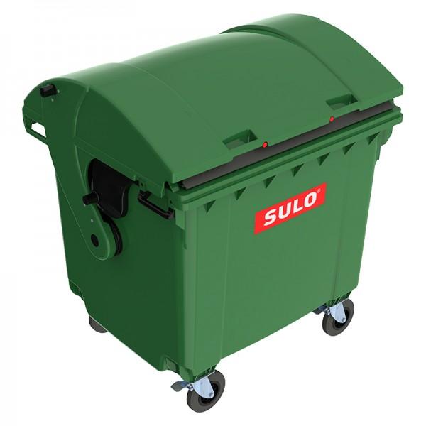 Мусорный контейнер марки SULO (1060x1370х1460 мм) на 1100 л RD, зеленый