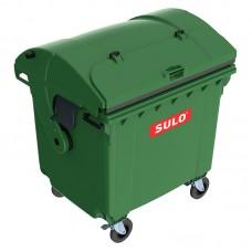Мусорный контейнер марки SULO (1060x1370х1460 мм) на 1100 л RD did V, зеленый
