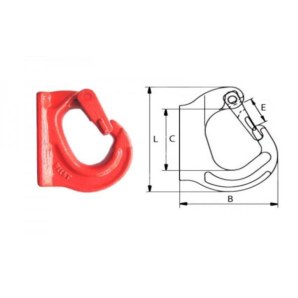 Крюк с приварочной площадкой типа G80, 2.0т