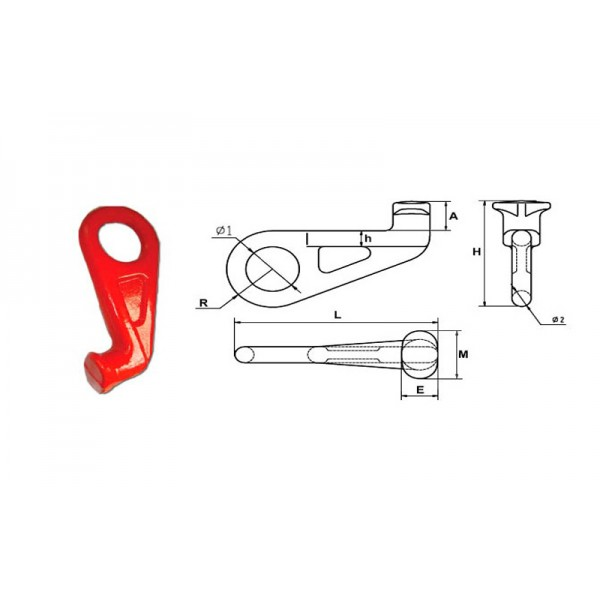 Крюк контейнерный типа G80 SLR-633, 12.5т (универсальный)