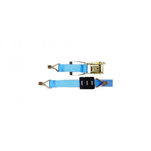Автовозный ремень, АР-2-1  5.0т/2600мм (крюки-двойные сваренные,накладки 50мм)