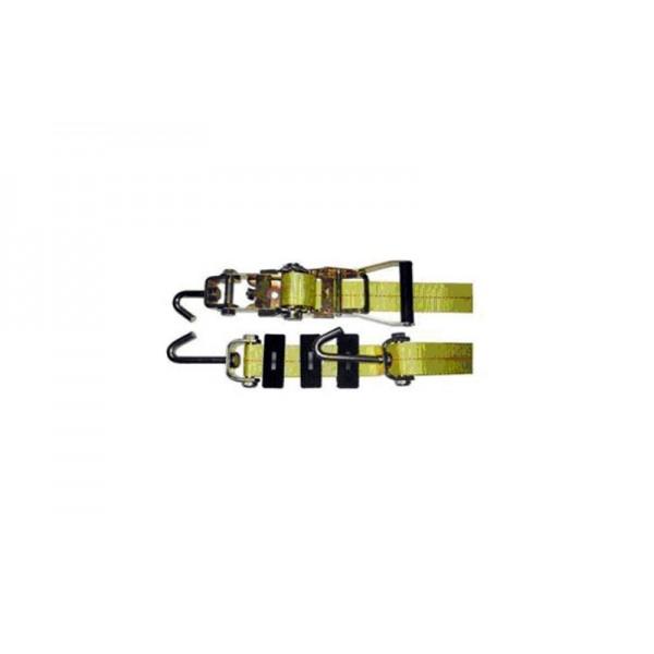 Автовозный ремень, АР-1-1  5.0т/2600мм (крюки-однопалые поворотные,накладки 50мм)