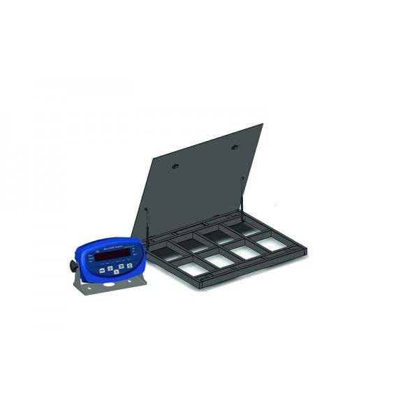 Весы платформенные с откидной платформой 4BDU1500-1215ВП-Б бюджет 1250х1500 мм (до 1500 кг)