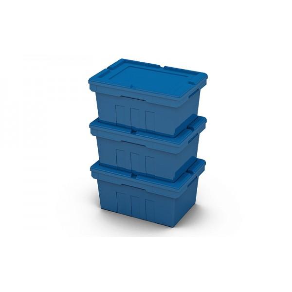 Вкладываемый полимерный контейнер KV 6427 с крышкой LF64 (600х400х270 мм)