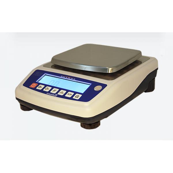 Лабораторные весы СВА-6000-0,1, до 6000 г, точность 0,1 г (прямоугольная платформа)
