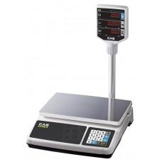 Весы торговые CAS PR-15 P до 15 кг; со стойкой