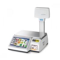 Весы торговые CAS CL-7200-U до 30 кг, с печатью этикеток, со стойкой
