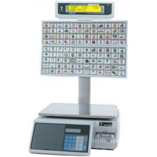Весы торговые Digi SM500 МК4 BS 96 клавиш Ethernet до 15 кг, с печатью этикетки