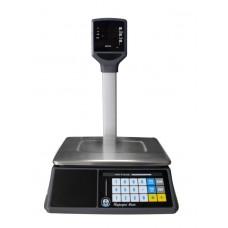 Весы торговые VAGAR(Вагар) VP-15  LED  RS232 со стойкой, до 15 кг, точность 2/5 г, 230 х 325 мм