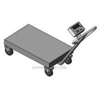 Тележка со встроенными весами BDU300-0508 В-В стандарт 500х800 мм (до 300 кг)