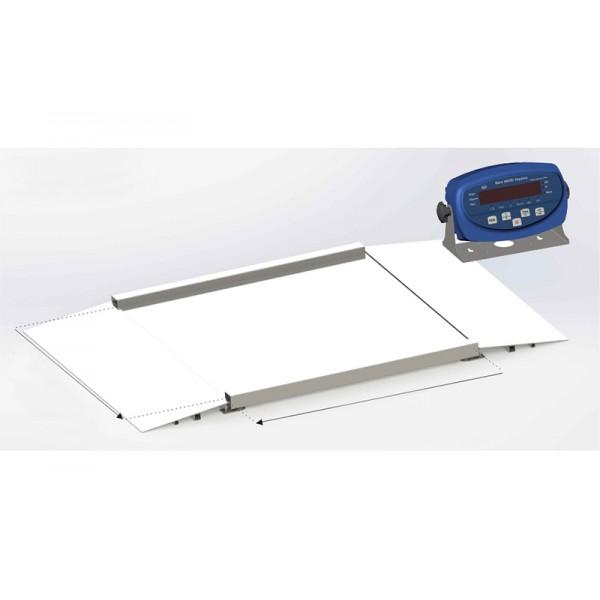 Платформенные складские весы с пандусами 4BDU1500H БЮДЖЕТ 1250х1500 мм (до 1500 кг)