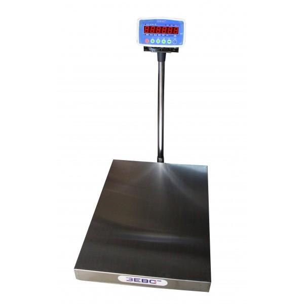 Весы товарные ЗЕВС А12Е до 500 кг, 600х800 мм