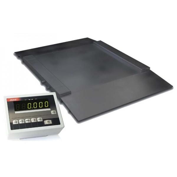 Наездные платформенные весы 1250х1250 мм с пандусами 4BDU1500H ПРАКТИЧНЫЕ (до 1500 кг)